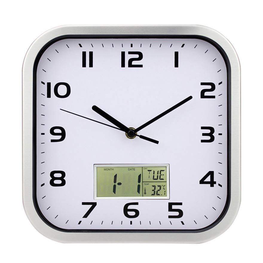 Square Kitchen Wall Clocks With Images
