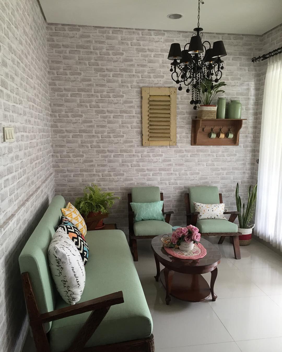 Desain Ruang Tamu Vintage Minimalis In 2020 Small Living Room Design