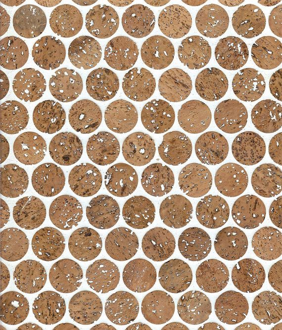 1 Cork Mosaic Tile For Floors Walls Bathroom Kitchen Etsy In 2020 Penny Round Tiles Cork Flooring Mosaic Tiles