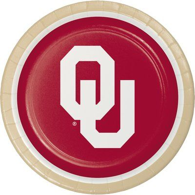 Creative Converting Ncaa Basic Paper Disposable Dinner Plate Ncaa Team University Of Oklahoma In 2020 University Of Oklahoma Oklahoma Sooners Oklahoma