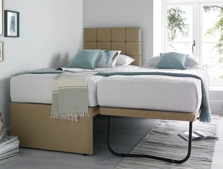 Partners Linoso Sand Upholstered Guest Bed With Mattresses In 2020