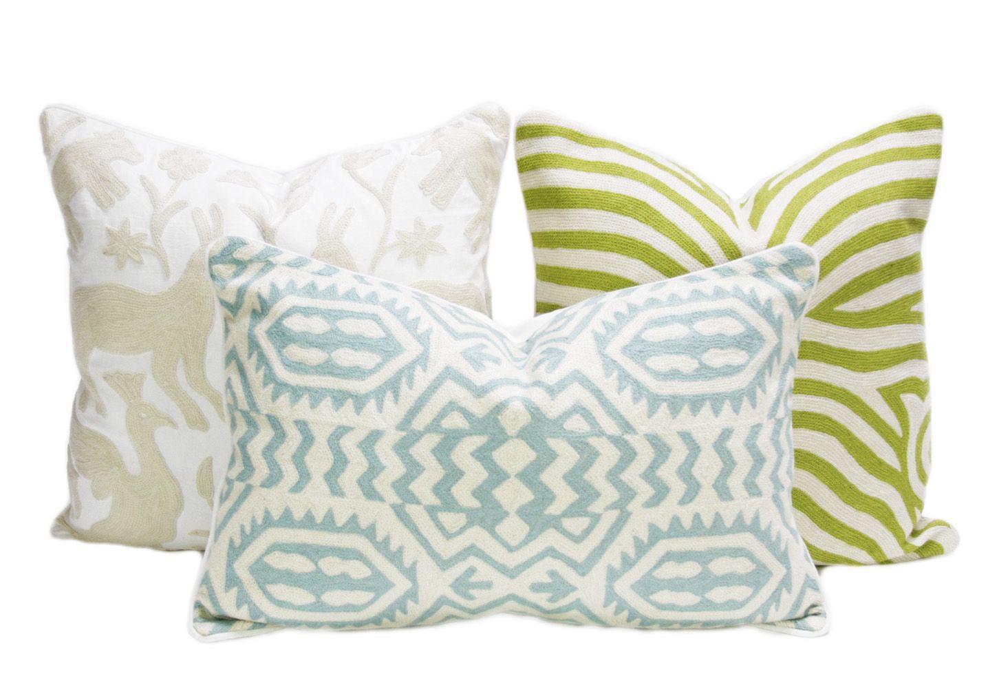 Marigold kashmiri native pillow