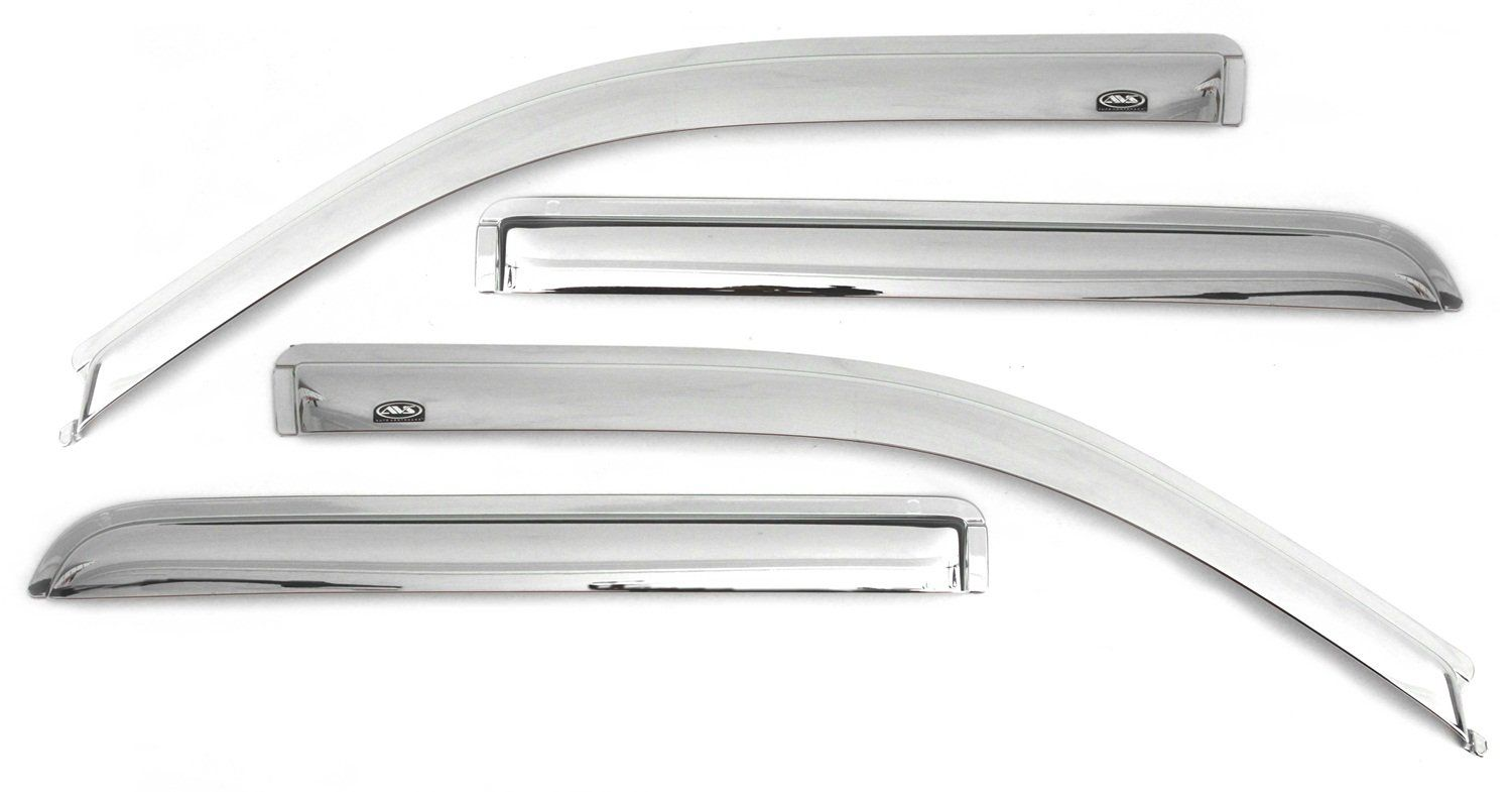 Auto Ventshade 684044 Chrome Ventvisor Side Window Deflector 4 Piece Set For 1999 2006 Silverado And Sierra 1500 2001 2004 In 2020 Chrome Nissan Titan Xd Rear Window
