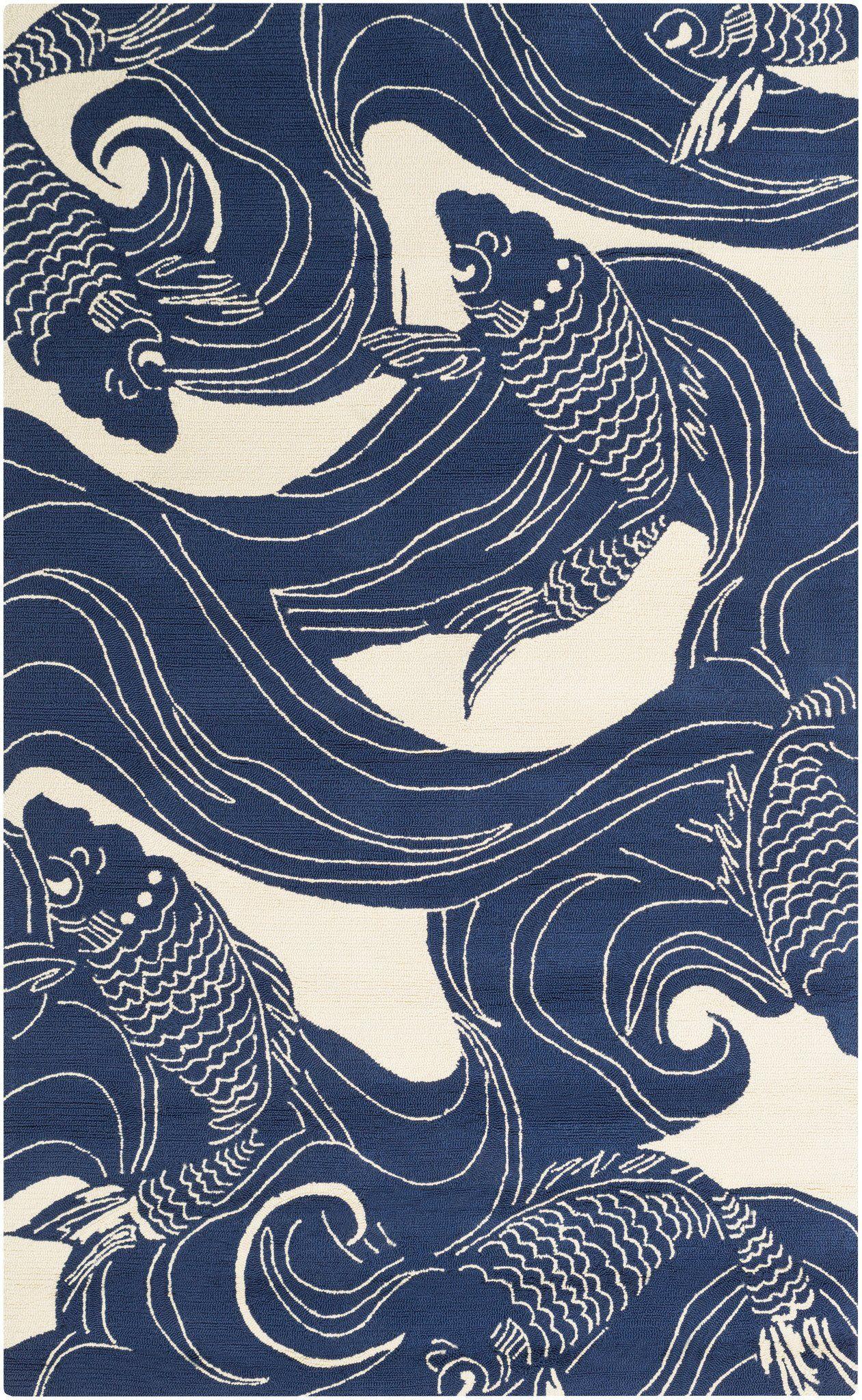 surya rain rai1238 bluebrown aquatic area rug