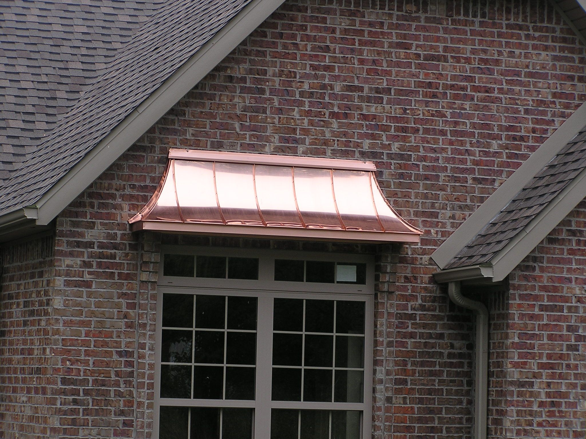 03 copper awning detail exterior doors pinterest for Glass awnings for home