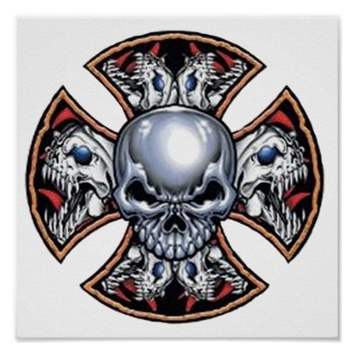 Screaming Iron Skull Poster | Zazzle.com in 2019 | The ...