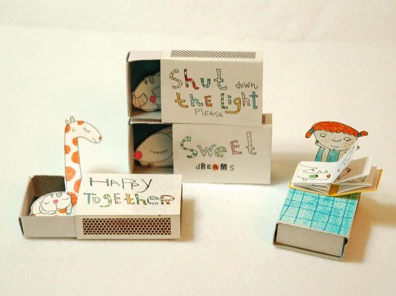 Diy Matchbox Tiny People Matchbox Crafts Matchbox Crafts For Kids