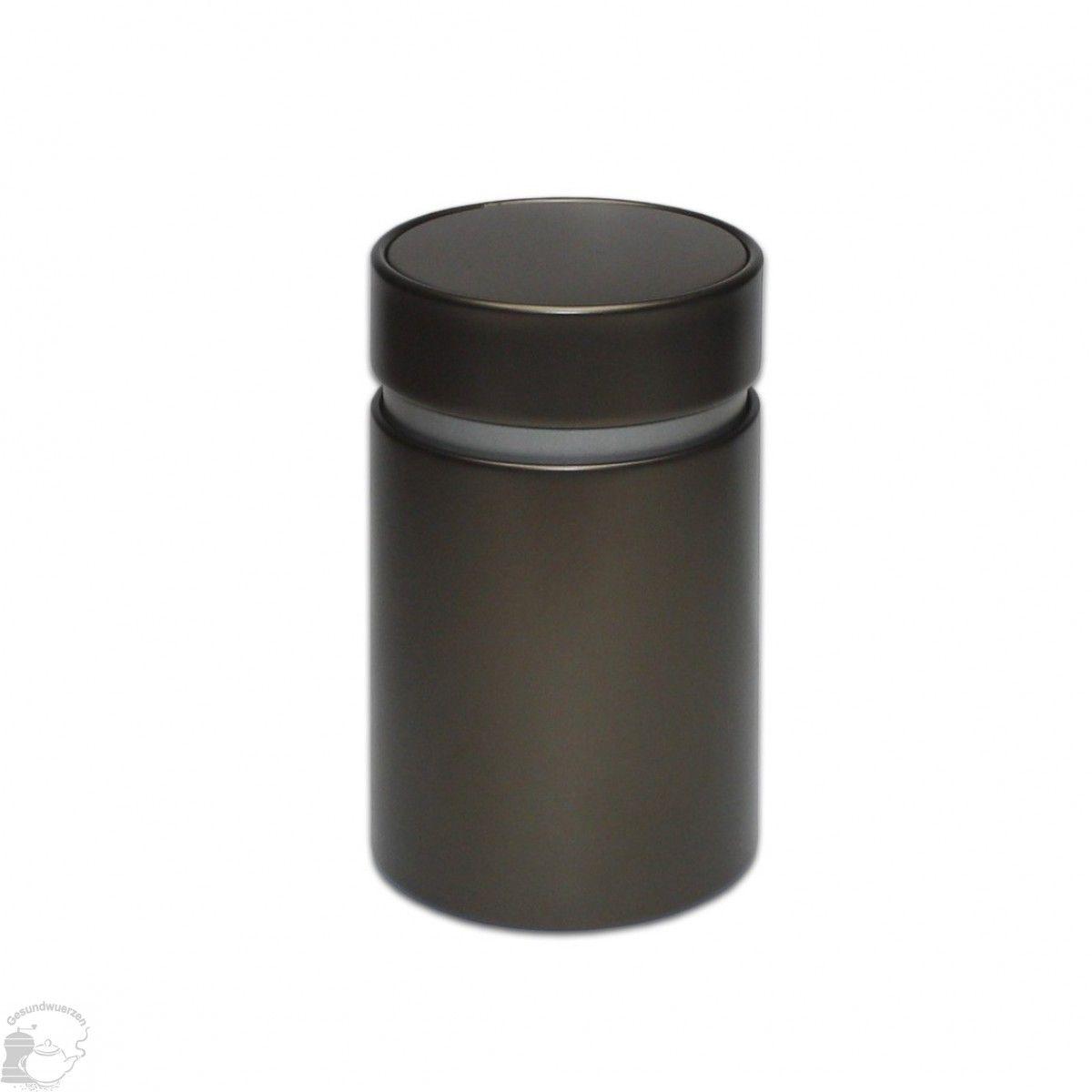 Schöne Vorratsdose mit Aromaschutzdeckel in braunen look Runde Dose, aus Weißblech, mit dem praktischen Innendeckel Der gut schließende Innendeckel sorgt dafür, dass der Inhalt gut verschlossen ist...