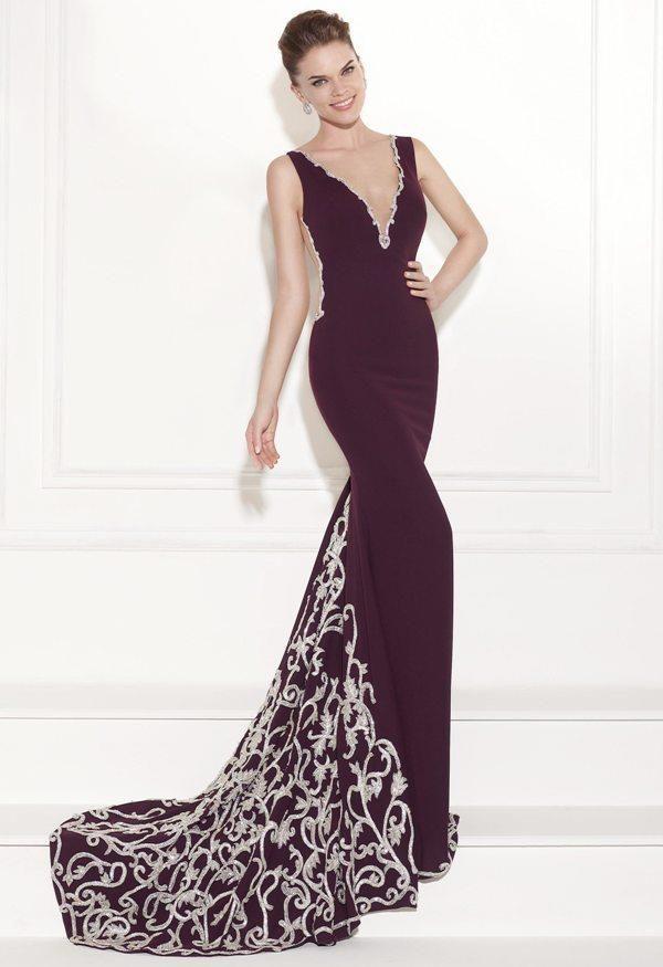 2bcdab081d494 harika işlemeli sırt dekolteli abiye elbise modeli | Nişan,düğün ...