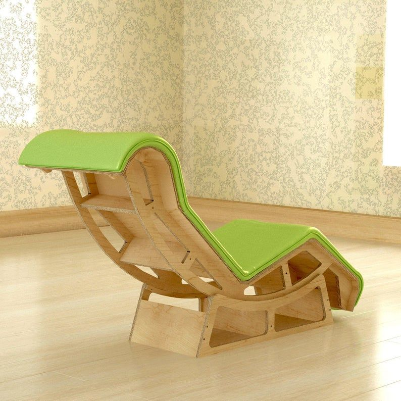 Cnc Plans For Lc4 Lounge Armchair By Le Corbusier In 2020 Lounge Armchair Diy Cardboard Furniture Le Corbusier