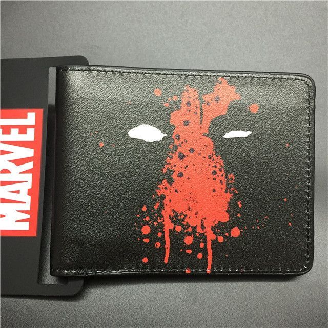 2016 New Arrival Full PU Marvel Purse Deadpool Spiderman Punisher Cartoon Short Wallets With Card Holder Free Dollar Price