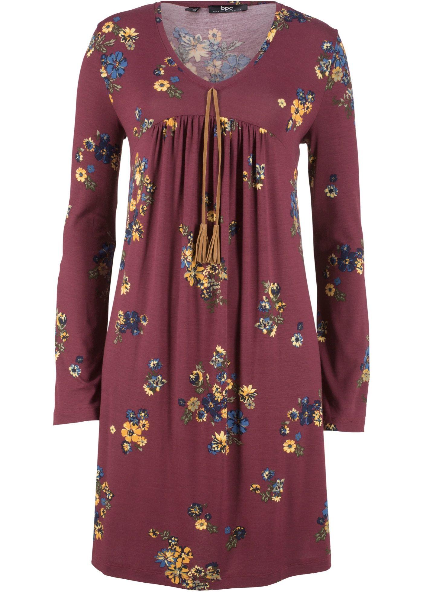 bonprix ladies printed shirt dress langarm | 09580060458535