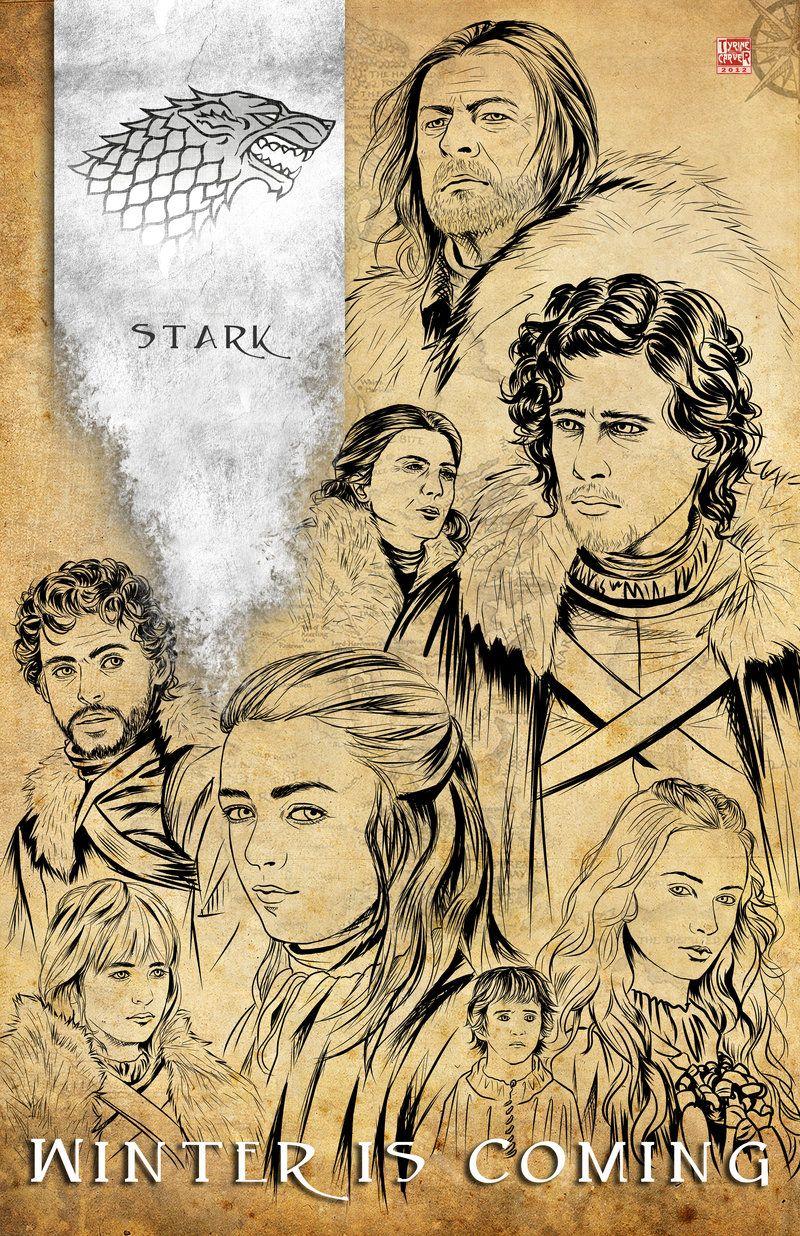 Game of Thrones - House Stark by TyrineCarver.deviantart.com