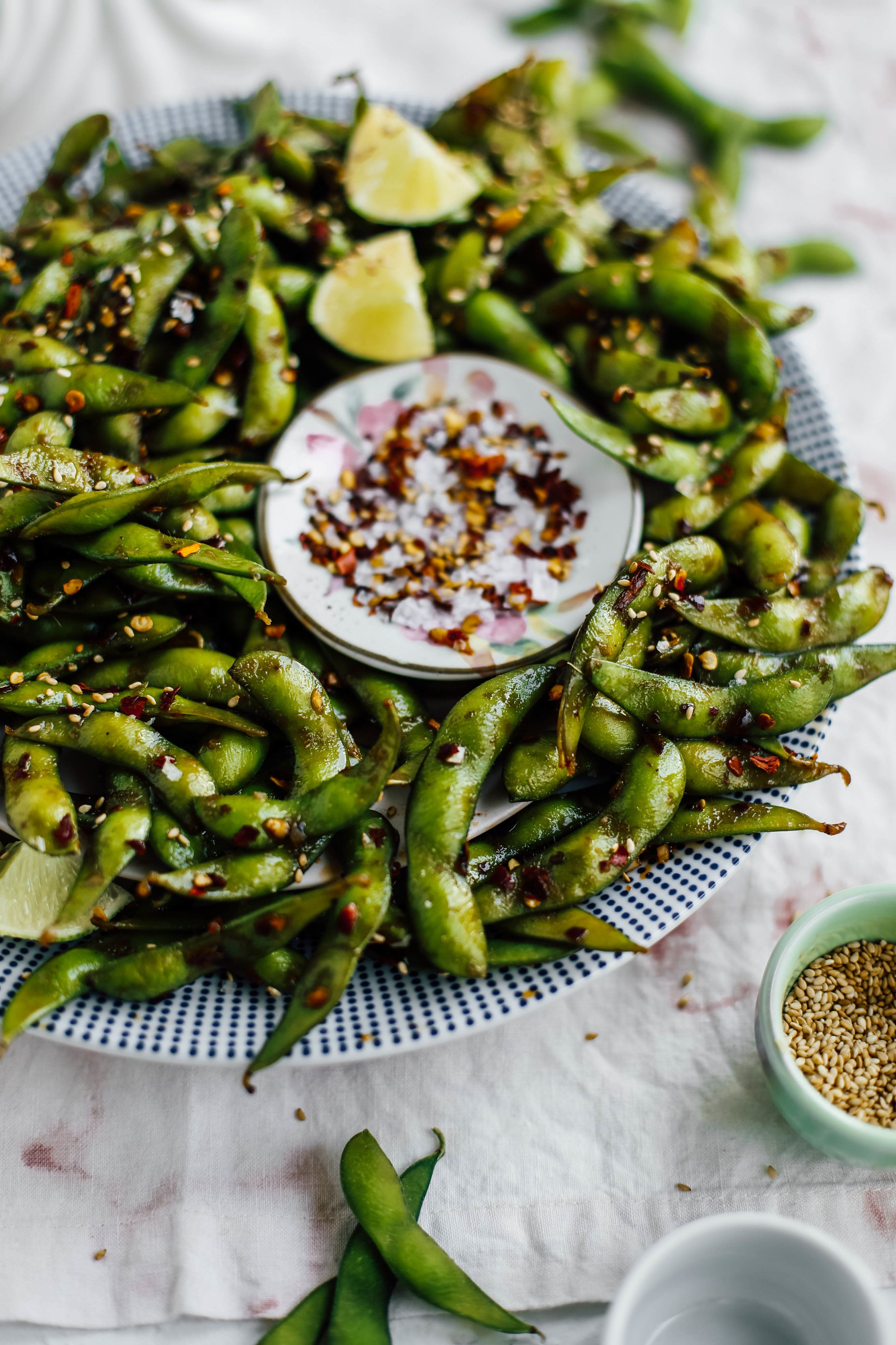 Garlic And Red Chili Pepper Flake Edamame Beans With Images