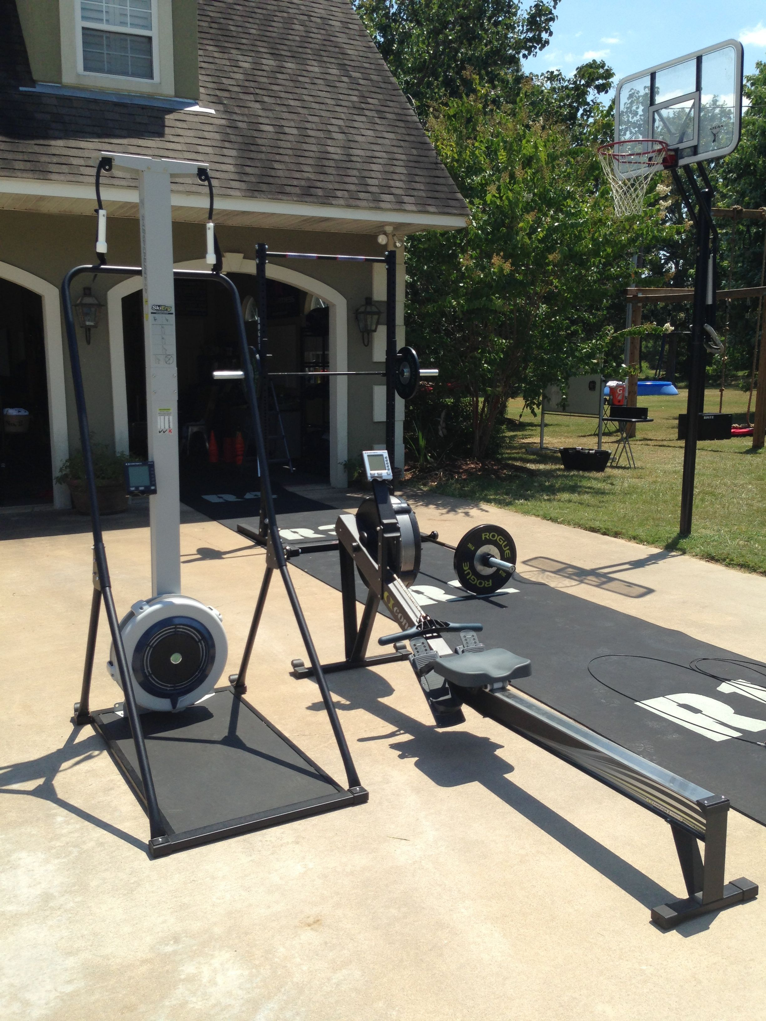 Skierg and rower b fit gym setup gym at home gym