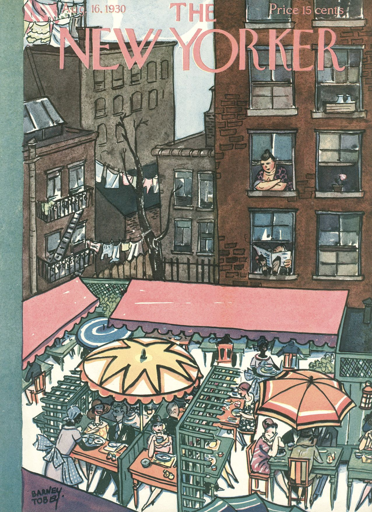 The New Yorker - Saturday, August 16, 1930 - Issue # 287 - Vol. 6 - N° 26 - Cover by : Barney Tobey