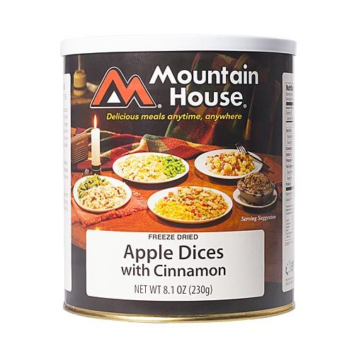 Disastenecessities Mountain House Freeze Dried Cinnamon Apple Dices in a #10 Can - http://www.disasternecessities.com/product/disasternecessities-mountain-house-freeze-dried-cinnamon-apple-dices-in-a-10-can