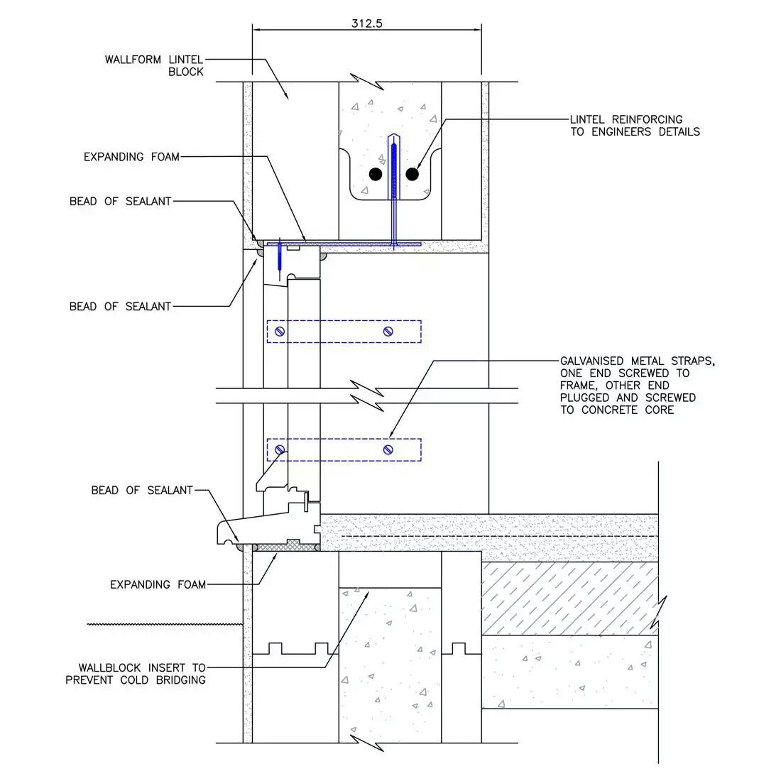 small resolution of block lintel concrete formwork window detail construction floor plans diagram windows