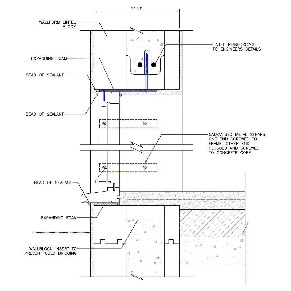 block lintel concrete formwork window detail construction floor plans diagram windows [ 1100 x 1100 Pixel ]
