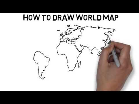 How to draw world map youtube challenge a pinterest how to draw world map youtube gumiabroncs Gallery