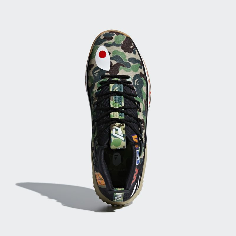 big sale 2c2c4 5b989 AP9974 Bape x adidas Dame 4 Green Camo (6)