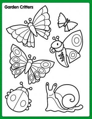 Free Printable Spring Coloring & Activity Pages  Bug coloring