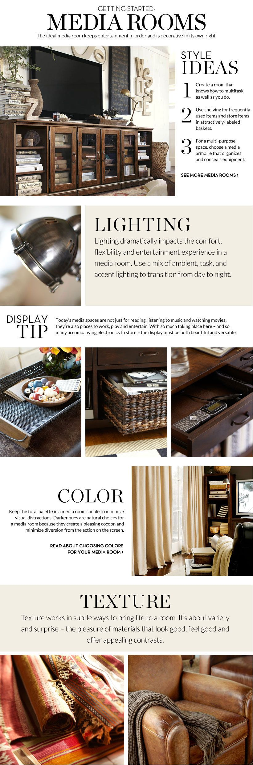 Media Room Decorating Ideas U0026 Media Room Inspiration | Pottery Barn