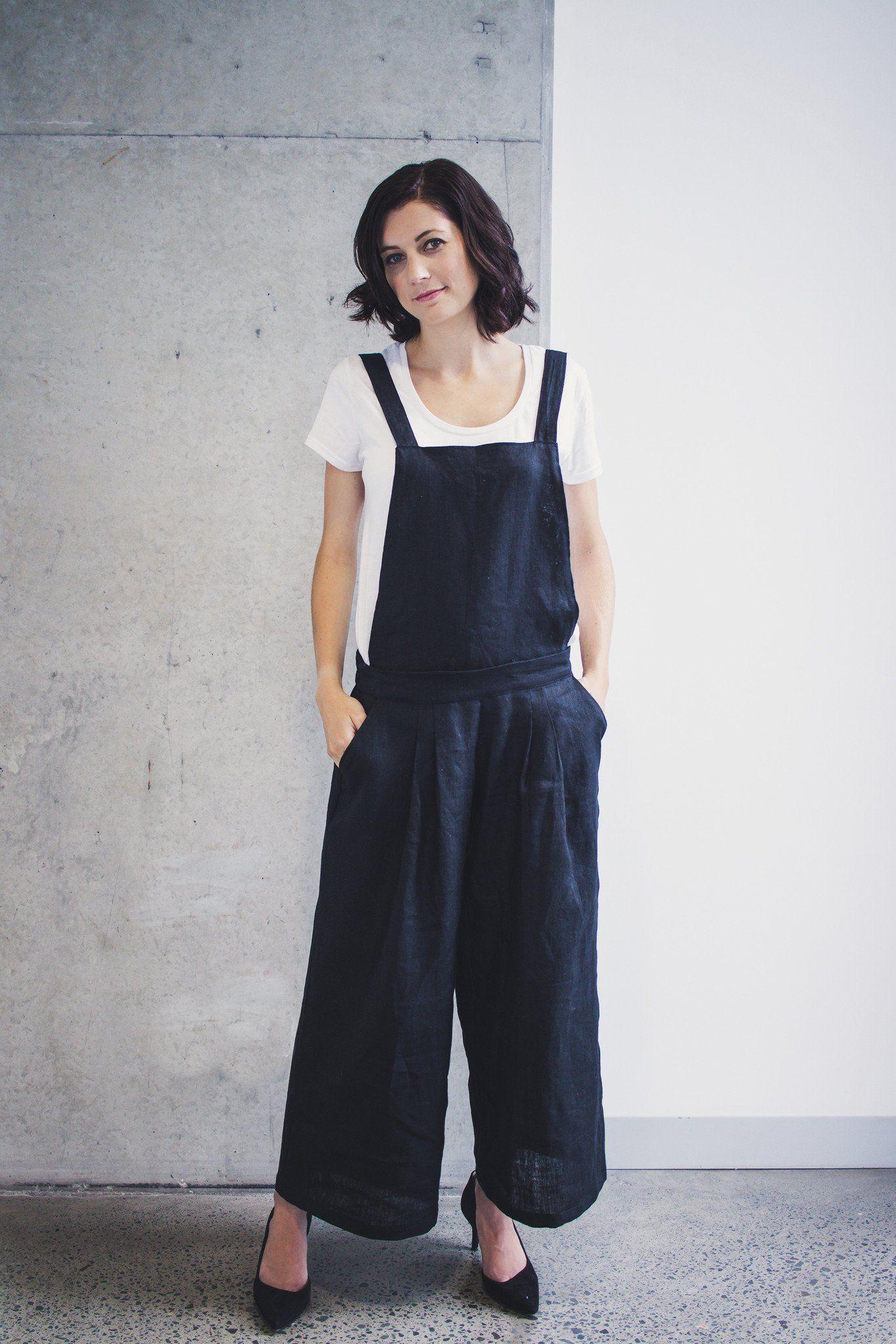 Yoko Convertible Overalls Pants Sewing Pattern
