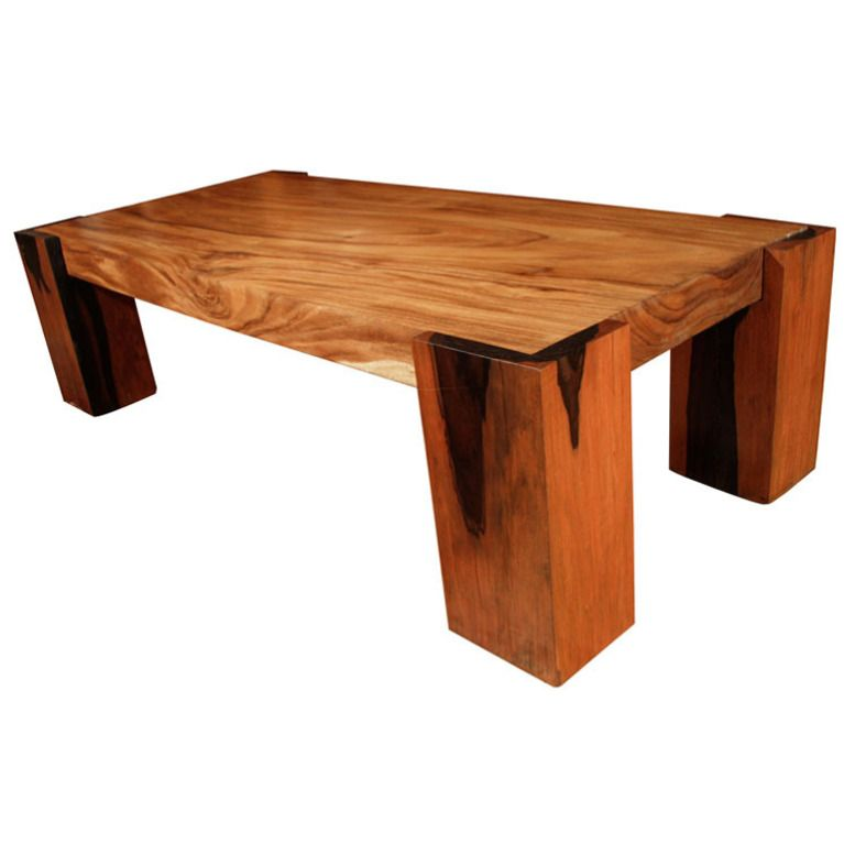Peachy Art Deco Molave Coffee Table With Ebony Wood Legs Tables Beutiful Home Inspiration Ommitmahrainfo