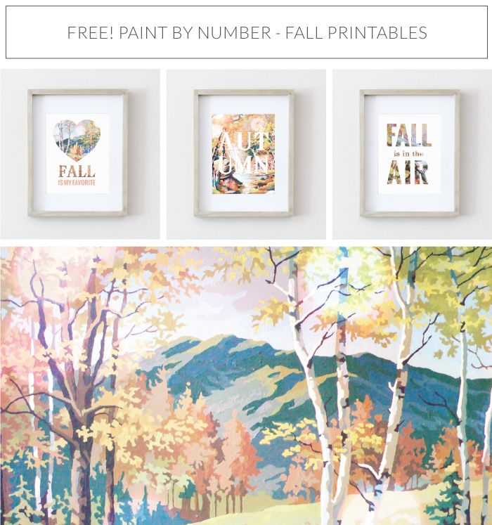 Fall Printables Free 8x10 Paint By Number Art Prints Vintage