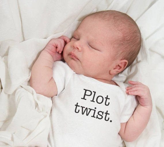 3e3526b01 Baby t-shirt - Plot twist - funny t-shirt - infant snap shirt - baby shower  gift - baby clothes