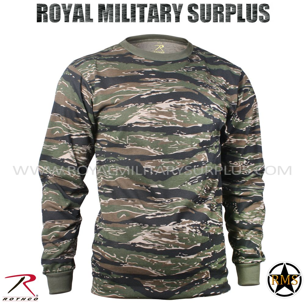 Military Camouflage Long Sleeve T-Shirt Camo Army Tee With ArmyUniverse Pin e1e8e32f685