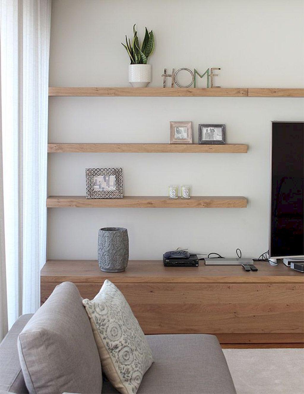 inspiring living room floating shelves | Highly Functional Floating Shelf for Living Room | Living ...