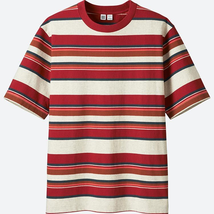 d072bfa845 Uniqlo U 90s Stipred Tee Red. Uniqlo U 90s Stipred Tee Red Mens Striped  Shorts ...
