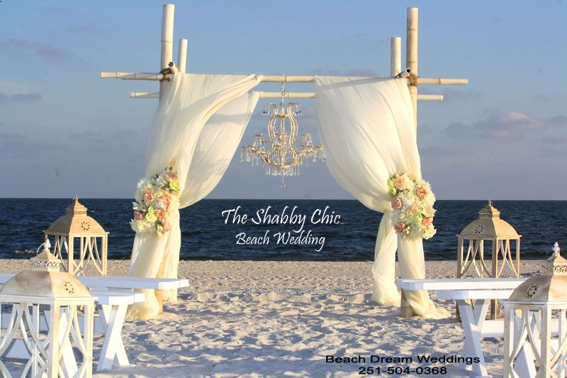 Gulf Ss Alabama Weddings Chic Beach Wedding Includes 8 Pole Distressed Bamboo
