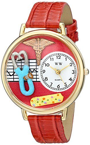 Whimsical Watches Unisex G0620053 Nurse 2 Analog Display Japanese Quartz Red Watch - http://www.artistic-watches.com/2015/03/09/whimsical-watches-unisex-g0620053-nurse-2-analog-display-japanese-quartz-red-watch/