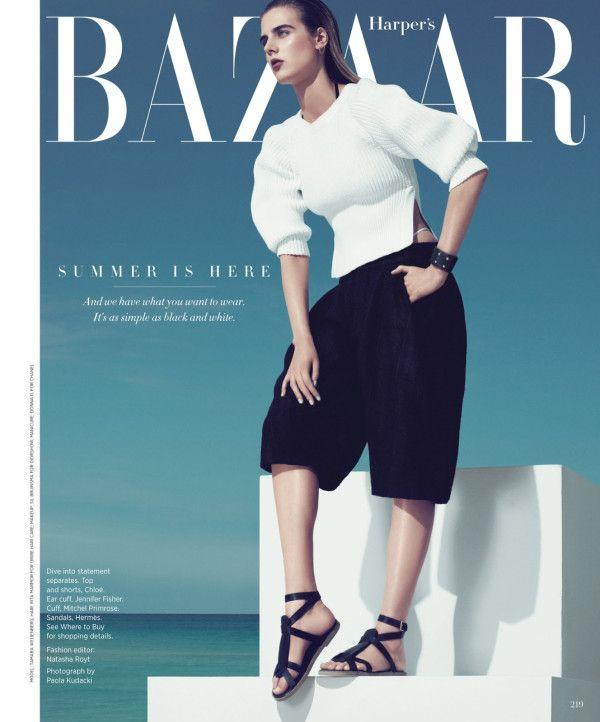 Tamara Weijenberg for Harper's Bazaar US -  May 2013