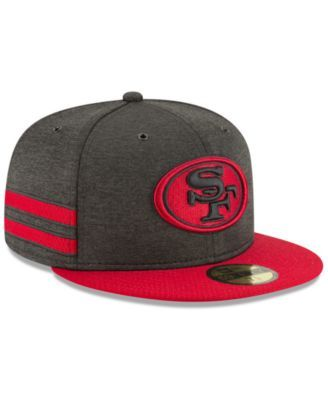 d8f83360c2c New Era San Francisco 49ers On Field Sideline Home 59FIFTY Fitted Cap -  Black Red 7 3 4