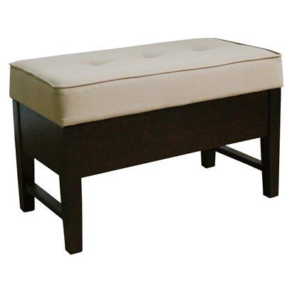Upholstered End Of The Bed Storage Ottoman Entryway Bench