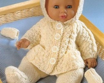 Dolls Clothes Knitting Pattern For 10 Inch Dolls By