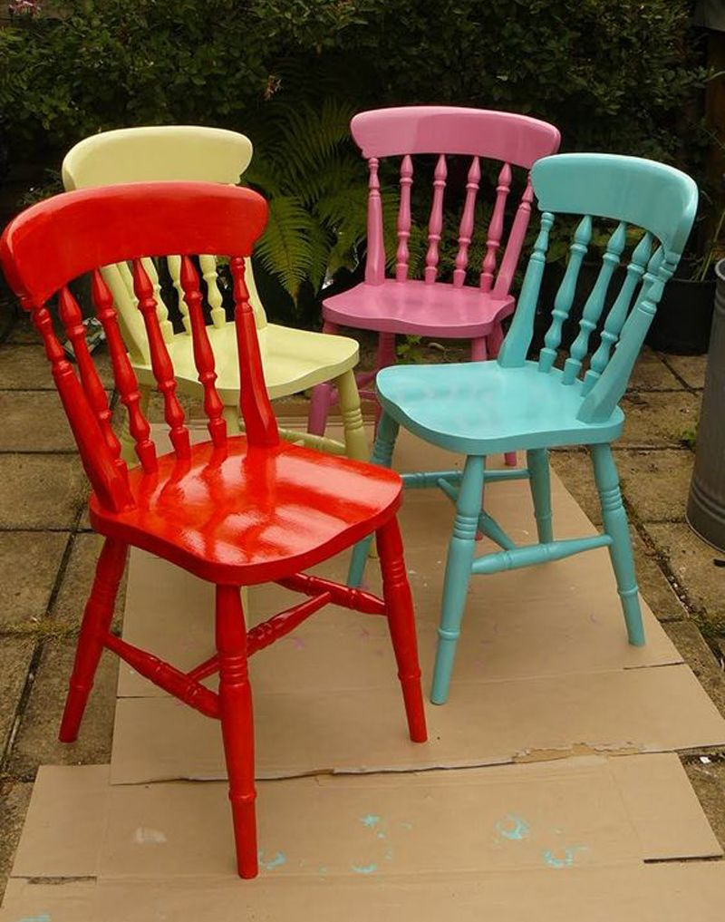 Colorful Wooden Kitchen Chairs Leather Tub Chair Take A Seat 20 Diy Projects Decor For The Future