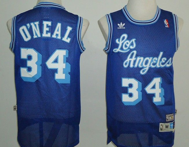 sports shoes f99e5 7ba32 Adidas NBA Los Angeles Lakers 34 Shaquille O'Neal Swingman ...