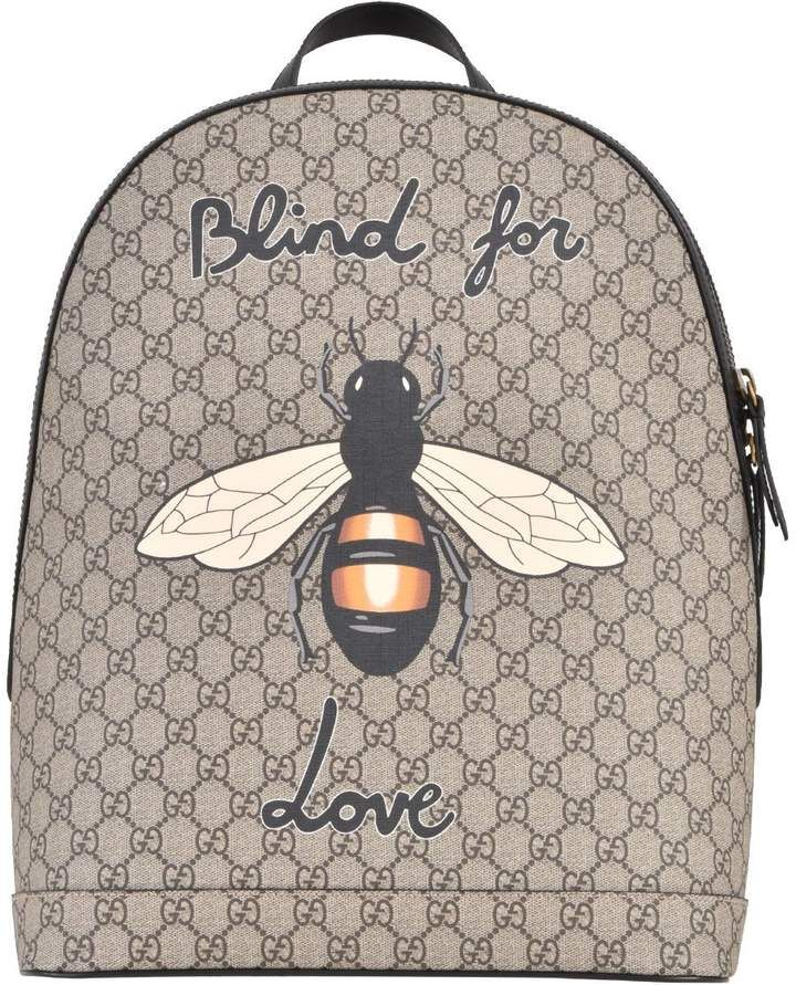 5bbfaae08058 Gucci Bee Print Backpack