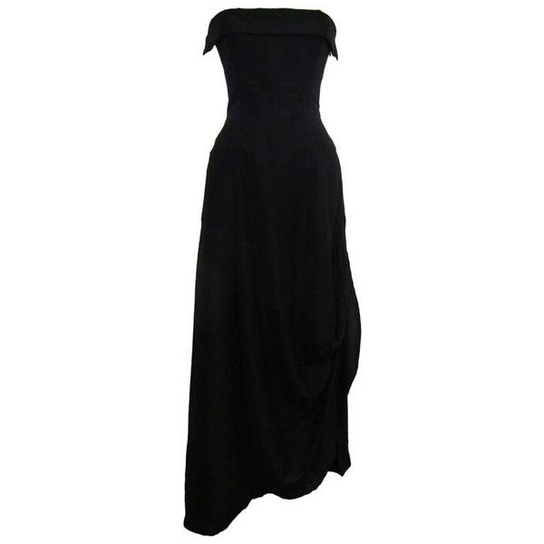 Pre-owned Yohji Yamamoto Chic Black Evening Gown ($1,999) ❤ liked ...