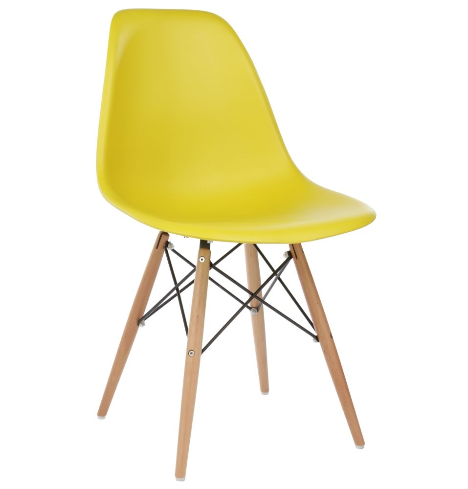 Eames Style DSW Molded Dark Yellow Plastic Dining Shell Chair with Wood  Eiffel LegsThe Matt Blatt Replica Eames DSW Side Chair   Plastic by Charles  . Set Of 4 Replica Eames Eiffel Dsw Dining Chair White. Home Design Ideas