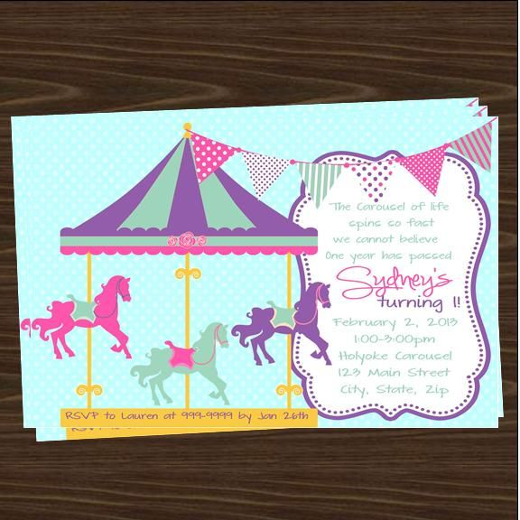 Carousel Party Invitations Top Party Themes – Carousel Party Invitations