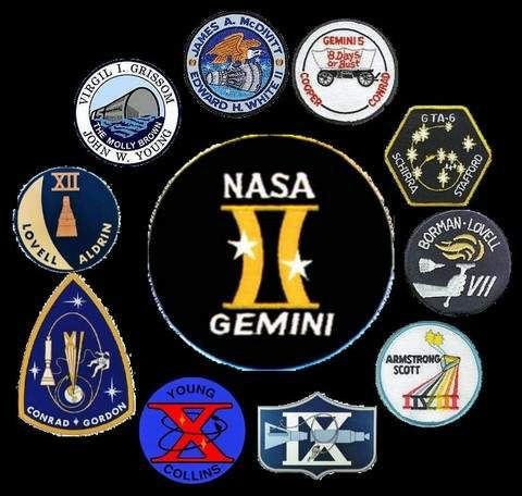 Gemini Space Program >> Patches From The Gemini Missions Us Space Program Nasa Space