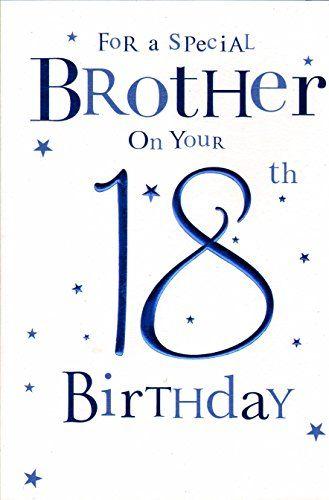 Brother Happy 18th Birthday Card Blue Balloons Cards Https Www Amazon Co Uk Dp B00boac3mi Ref Cm Sw R Pi D 18th Birthday 18th Birthday Cards Birthday Cards