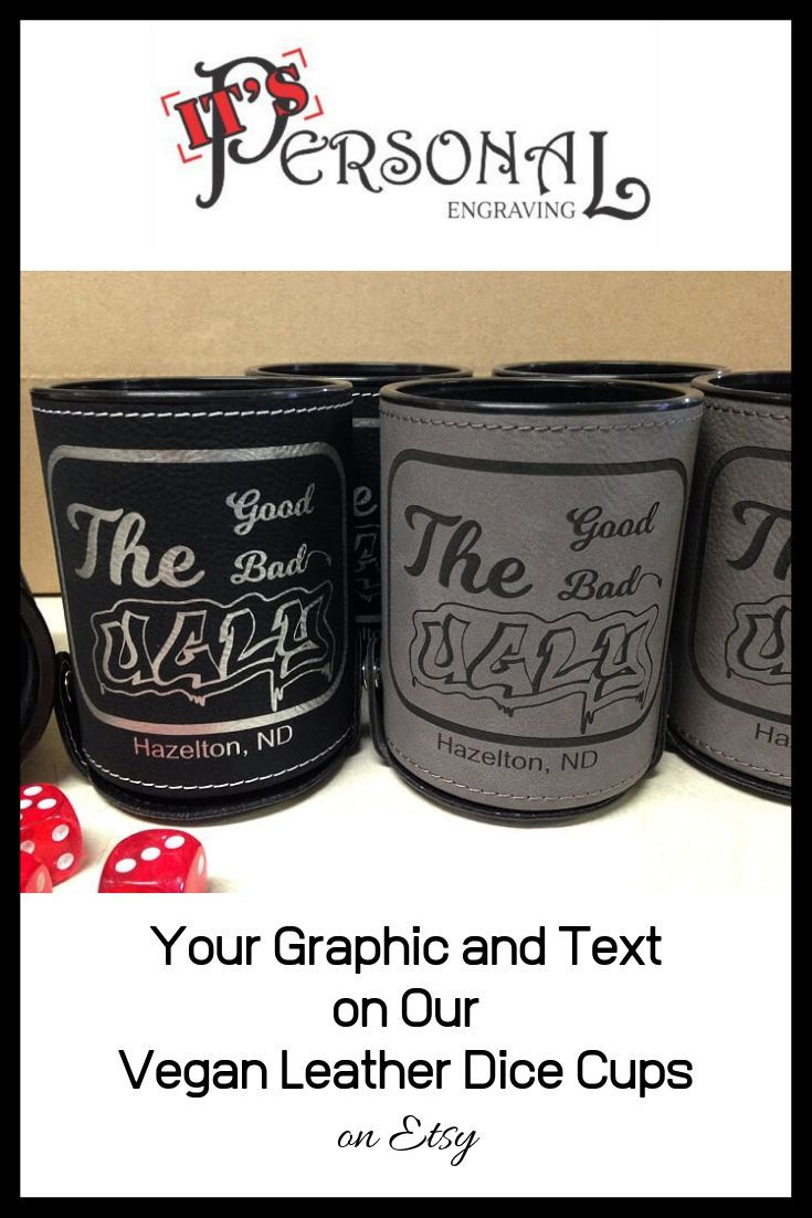 Your Logo Here Dice Cup Leather Dice Cup Personalized Dice