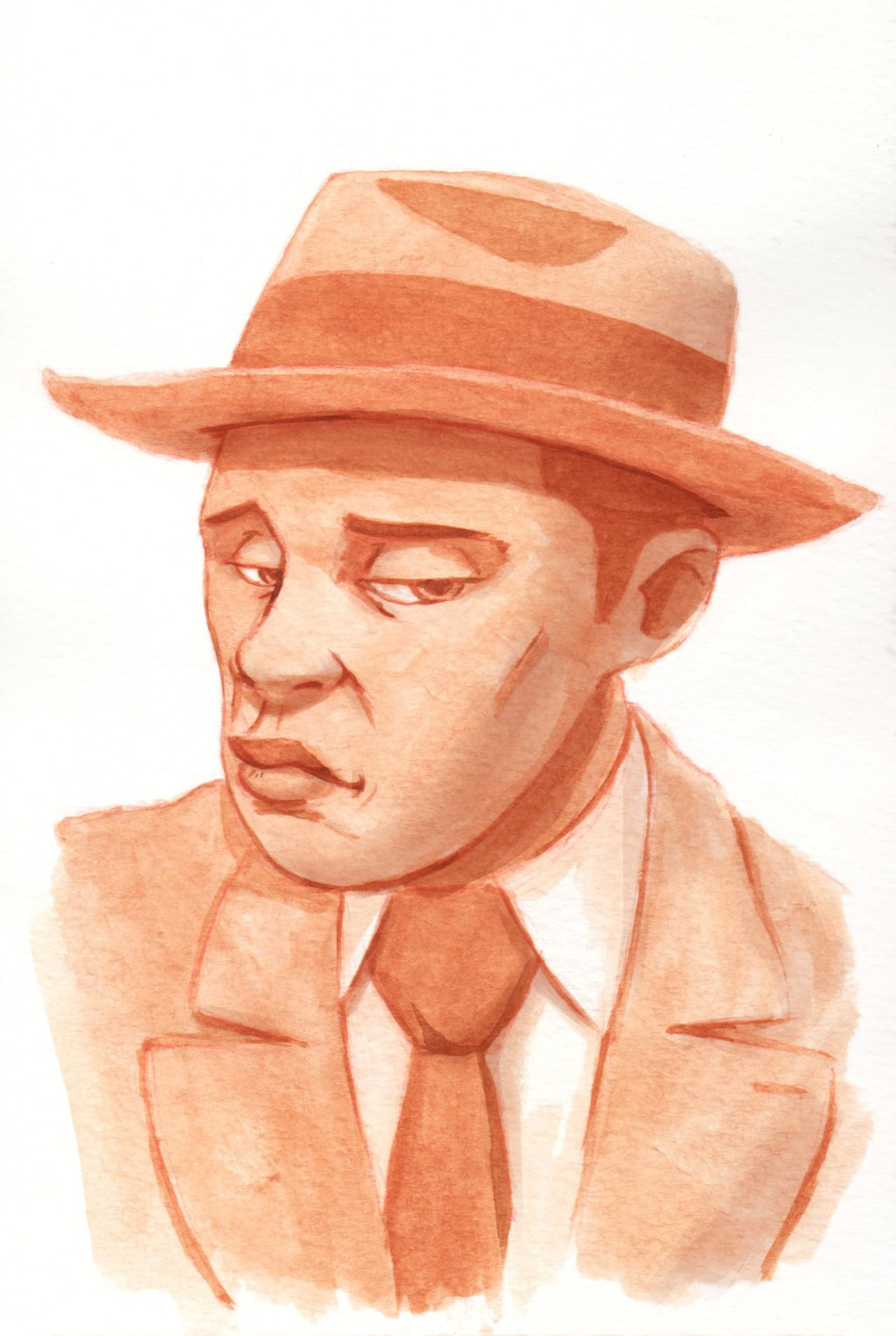 BLACK FASHION — Watercolor portrait by Lawrence McWilliams ...